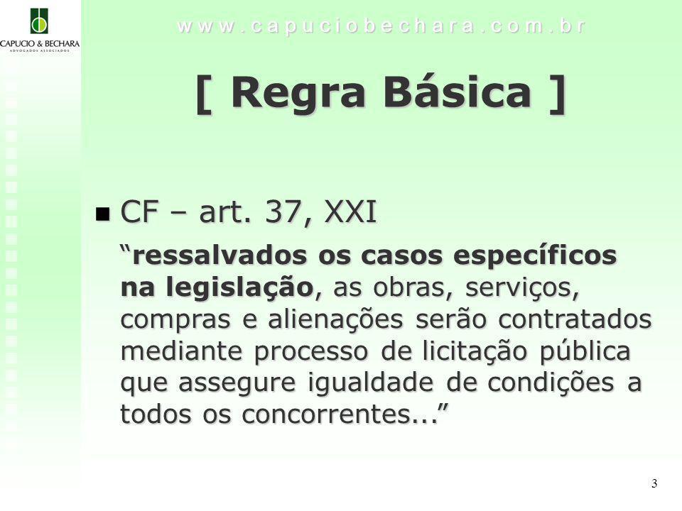 [ Regra Básica ] CF – art. 37, XXI